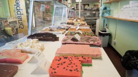 Homemade fudge by Three Blonde Bakers in Bethany Beach, DE